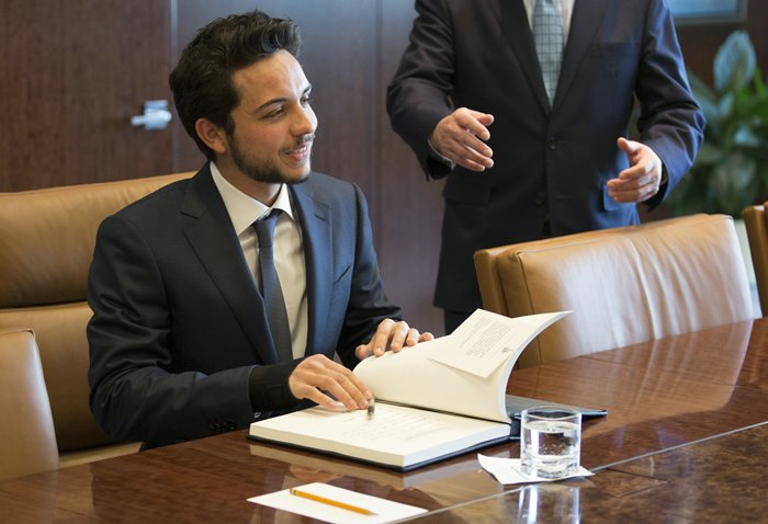 Crown Prince Al Hussein Bin Abdullah II visiting the UN