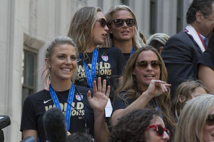 Womens World Cup ticker tape Parade in New York