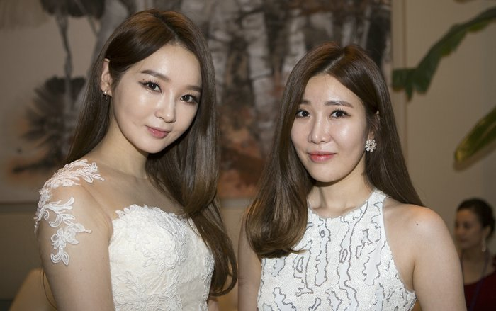United Nations, New York, USA, October 23 2015 -  Kang Minkyung (L) and Lee Haeri of pop duo Davichi visit The UN Headquarters for the 70th anniversary Concert on October 23, 2015 in New York City. (Photos by: Luiz Rampelotto/EuropaNewswire)