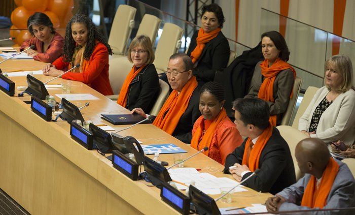 United Nations, New York, USA, November 25 2015 - Secretary General Ban Ki-moon along with Phumzile Mlambo-Ngcuka, United Nations Women Executive Director participated today on a panel dedicated to End Violence against Women at the UNHQ in New York City (Photos by: Luiz Rampelotto/EuropaNewswire)