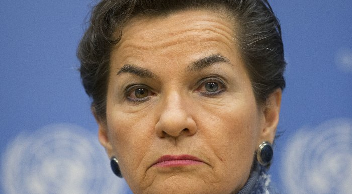 United Nations, New York, USA, January 27 2016 - Christiana Figueres, Executive Secretary, United Nations Framework Convention on Climate Change attended a Press Conference on the 2016 Investor Summit on Climate Risk today at the UN Headquarters in New York. Photo by: Luiz Rampelotto/EuropaNewswire