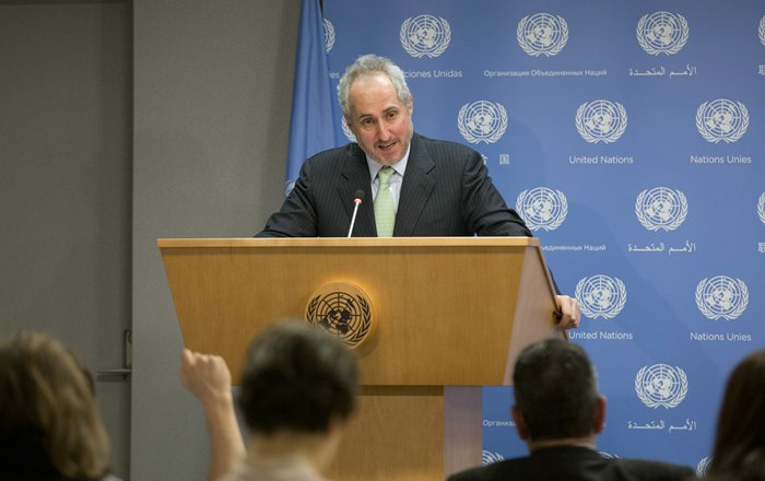 United Nations, New York, USA, January 04 2016 - Stephane Dujarric, United Nations Secretary-General Spokesperson Photos by: Luiz Rampelotto/EuropaNewswire