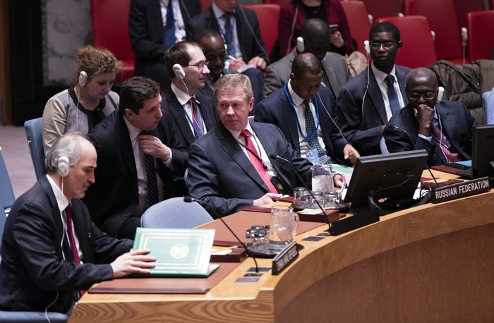 United Nations, New York, USA, February 26 2016 - Russian deputy foreign minister Gennady Gatilov during the Security Council adoption of resolution 2268 (2016), endorsing the cessation of hostilities in Syria today at the UN Headquarters in New York. Photo by: Luiz Rampelotto/EuropaNewswire