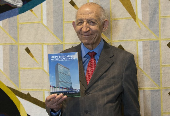 United Nations, New York, USA, February 04 2016 - New Book by UN Correspondent Abdelkader Abbadi - From the Garden to the Glass House - An Undiplomatic Look at the United Nations. First copies showing today at the UN Headquarters in New York  Photo by: Luiz Rampelotto/EuropaNewswire