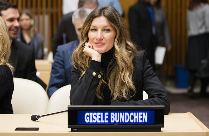 United Nations, New York, USA, March 03 2016 - UNEP Goodwill Ambassador Gisele Bundchen participated on the Celebration of World Wildlife Day 2016 today at the UN Headquarters in New York. Photo by: Luiz Rampelotto/EuropaNewswire