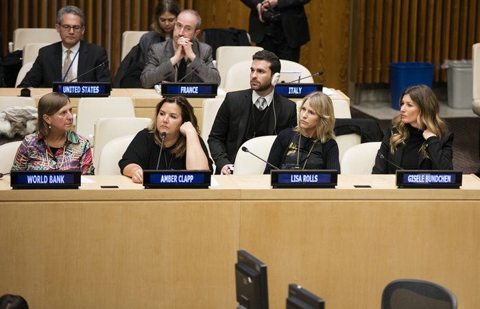 United Nations, New York, USA, March 03 2016 - UNEP Goodwill Ambassador Gisele Bundchen participated on the Celebration of World Wildlife Day 2016 today at the UN Headquarters in New York.Photo by: Luiz Rampelotto/EuropaNewswire