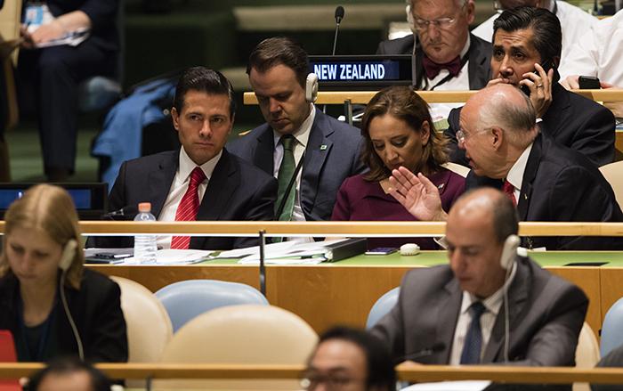 United Nations, New York, USA, April 19 2016 - Enrique Pena Nieto - Photo: Luiz Rampelotto/EuropaNewswire