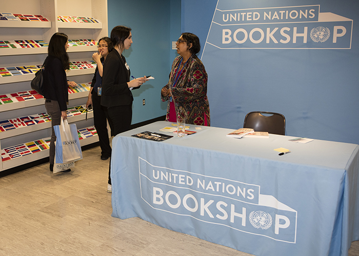 "United Nations, New York, USA, May 03 2016 - Book Signing by Ruchira Gupta (R) of River of ""Flesh and Other Stories: The Prostituted Woman in Indian Short Fiction"" today at the UN Headquarters in New York. Photo: Luiz Rampelotto/EuropaNewswire"