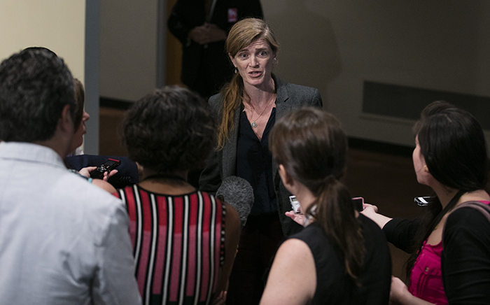 United Nations, New York, USA, August 09 2016 - Samantha Power.