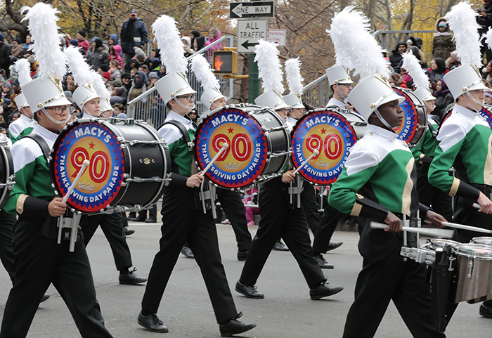 Central Park West, New York, USA, November 24 2016 - Thousands of People watch and participate on the 90th Macys Thanksgiving Day Parade today in New York City.  Photo: Luiz Rampelotto/EuropaNewswire