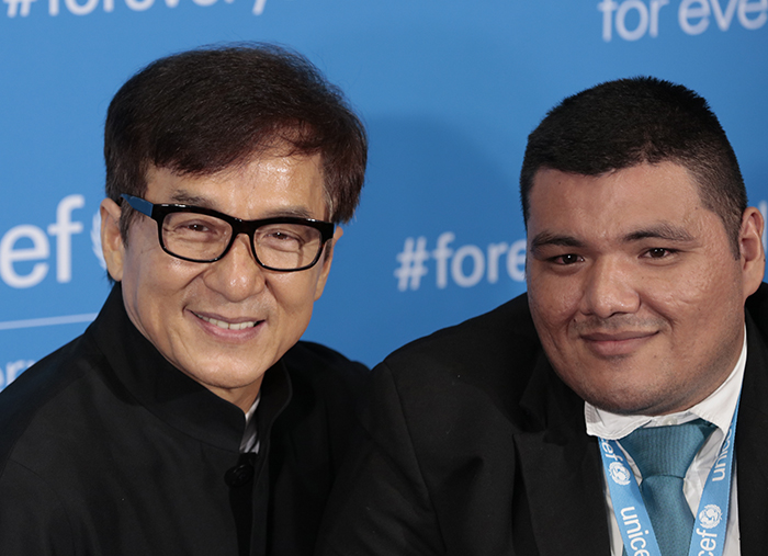 United Nations, New York, USA, 12th December, 2016 - UNICEF Goodwill Ambassador Jackie Chan and Juan Carlos Moran Menjivar Participated on UNICEF 70th Anniversary Celebrations today at the United Nations Headquarters in New York.  Photo: Luiz Rampelotto/EuropaNewswire